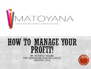 How to manage your Profit